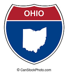 Ohio interstate highway shield - Ohio American interstate...