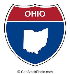 Ohio interstate highway shield - Ohio American interstate...