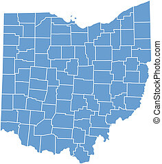 ohio, mapa estatal