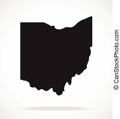 ohio oh state map shape simplified vector