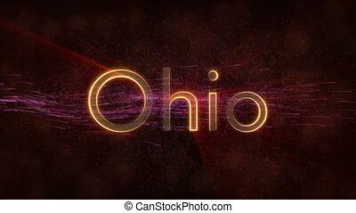 Ohio - Shiny looping state name text animation - Ohio -...