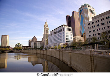 ohio, skyline, columbus