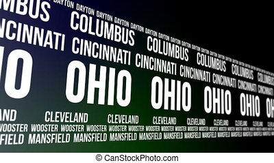 Ohio State and Major Cities Banner - Animated scrolling...