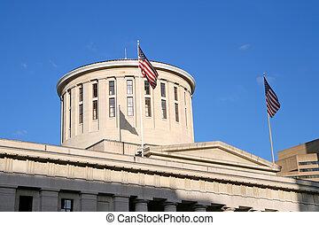ohio, statehouse, kupol
