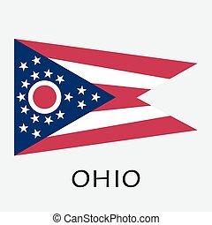 ohio, stato, america, bandiera