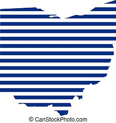Ohio stripes map logo