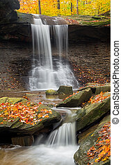 Blue Hen Falls - Ohio's Blue Hen Falls in Cuyahoga Valley...