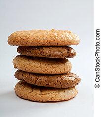 oats cookies - Ohomemade fresh oats cookies on light ...