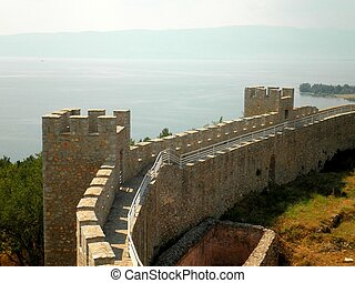 Ohrid Fortress Macedonia - The beautiful Ohrid Fortress over...