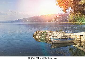 Ohrid lake in Macedonia