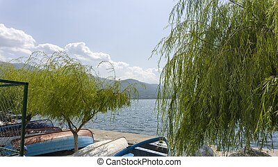 Ohrid Lake in Macedonia in Autumn - lovely Lake Ohrid in ...