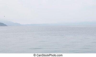 Ohrid Lake - OHRID, NORTH MACEDONIA small boats on the lake