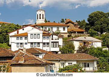 Ohrid old UNESCO town in Macedonia Balkans.