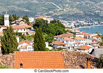 View on old part of Ohrid Town - Macedonia, Balkans