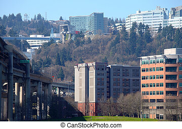 OHSU on the west hills.