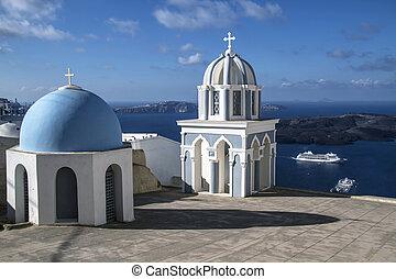 oia, 教会, santorini