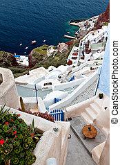 Oia at Santorini island in Greece
