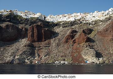 Oia cliffs Santorini