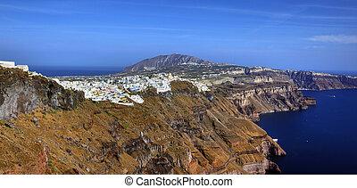 Oia in Greek Island of Santorini, Greece