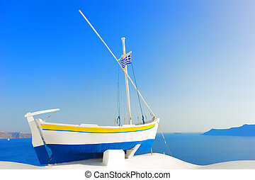 Oia in Santorini island Greece