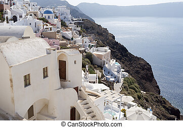 Oia village at Santorini island.