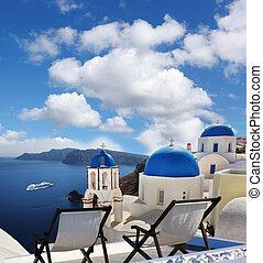 Oia village in Santorini island, Greece - Famous Oia village...