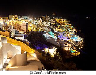 Oia village in Santorini island - Greece
