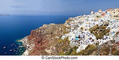 Oia village in Santorini