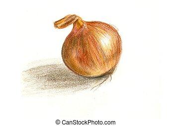 Peint pastel pomme main peint pastel pomme color for Oignon amaryllis