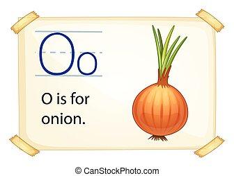 oignon, o, lettre