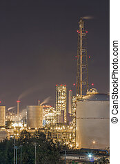 Petroleum plant in night time