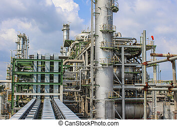 Oil and chemical structure plant