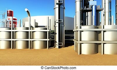 oil and gas industry facilities in animation - oil and gas...