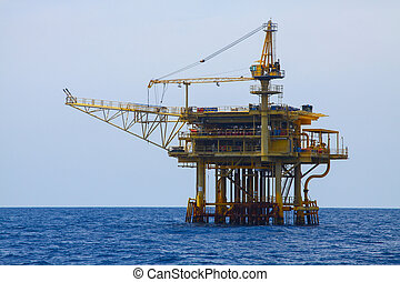 Oil and gas platform in the gulf