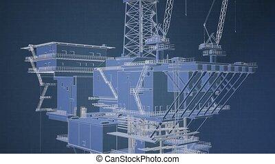 Oil and Gas Platform - oil and gas platform model ...