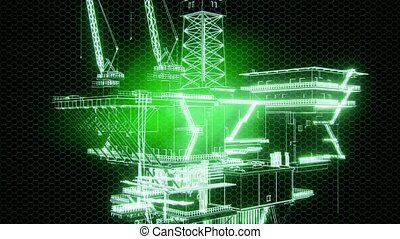 Oil and Gas Platform - oil and gas platform model