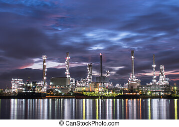 oil and gas refinery petrochemical factory