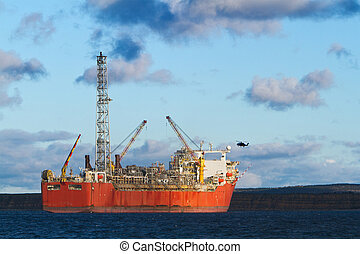 Oil and gas - FPSO oil production vessel.