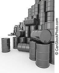 Barrels on white isolated background.