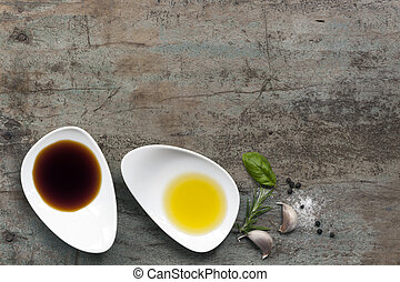 Oil and Vinegar Food Background