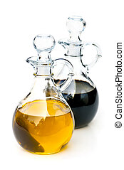 Oil and vinegar - Oil and balsamic vinegar glass bottles...
