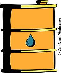 Oil barrel icon, icon cartoon