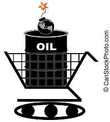 oil crisis concept