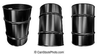 Oil Barrel - isolated on white background