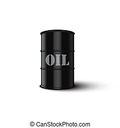 Oil barrel isolated on white background. Vector illustration.