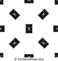 Oil barrel pattern seamless black