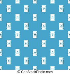 Oil barrel pattern seamless blue