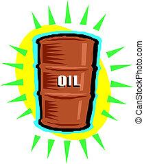 Oil barrel, vector illustration