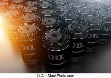 Oil Barrels Fossil Fuel Concept - Oil Barrels Stock Concept...