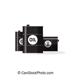 Oil barrels vector illustration isolated on white